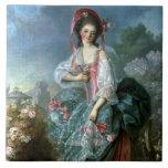 Retrato del Mademoiselle Guimard como Terpsícore,  Tejas