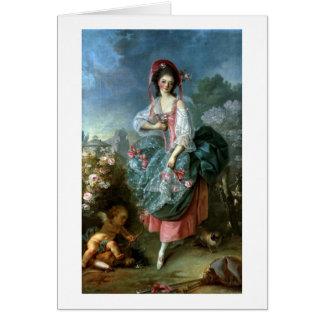 Retrato del Mademoiselle Guimard como Terpsícore,  Felicitacion