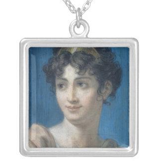 Retrato del Mademoiselle Jorte Collar Plateado