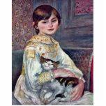 Retrato del Mademoiselle Julia Manet con el gato Esculturas Fotograficas