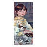 Retrato del Mademoiselle Julia Manet con el gato Tarjetas Publicitarias Personalizadas