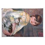 Retrato del Mademoiselle Julia Manet por Renoir Manteles