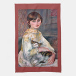 Retrato del Mademoiselle Julia Manet por Renoir Toallas