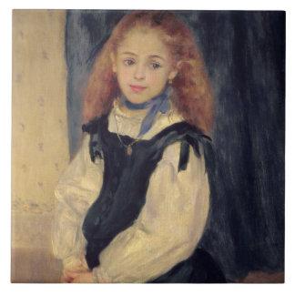 Retrato del Mademoiselle Legrand Azulejo Cuadrado Grande