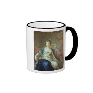 Retrato del Mademoiselle Marie Salle 1737 Taza A Dos Colores