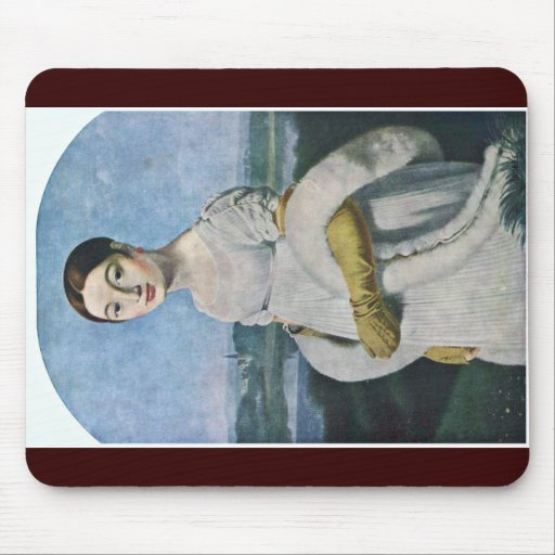 Retrato del Mademoiselle Riviere por el Au de Tapete De Raton