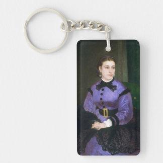Retrato del Mademoiselle Sicot Auguste Renoir Llavero Rectangular Acrílico A Doble Cara