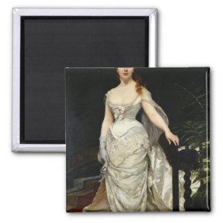 Retrato del Mademoiselle X, 1873 Imán Cuadrado
