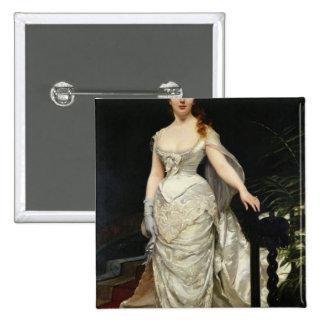 Retrato del Mademoiselle X, 1873 Pin Cuadrada 5 Cm