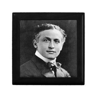 Retrato del mago americano Harry Houdini Joyero Cuadrado Pequeño