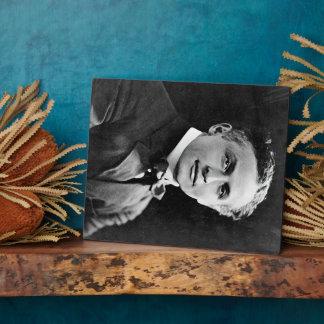 Retrato del mago americano Harry Houdini Placa
