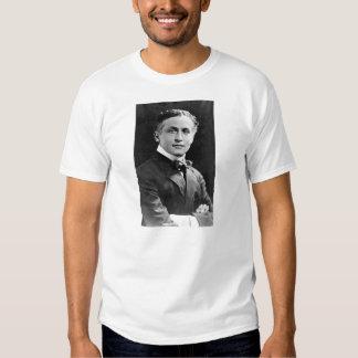 Retrato del mago americano Harry Houdini Playeras