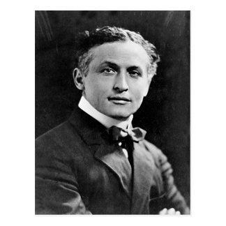 Retrato del mago americano Harry Houdini Postales