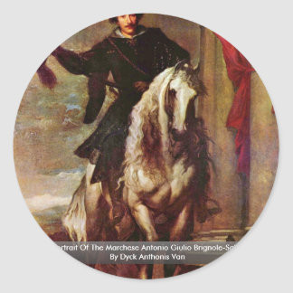 Retrato del Marchese Antonio Julio Brignole Pegatinas Redondas