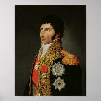 Retrato del mariscal Charles Jean Bernadotte Poster