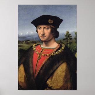 Retrato del mariscal del d'Amboise de Charles de F Posters