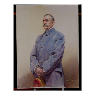 Retrato del mariscal Fernando Foch 1920 Póster