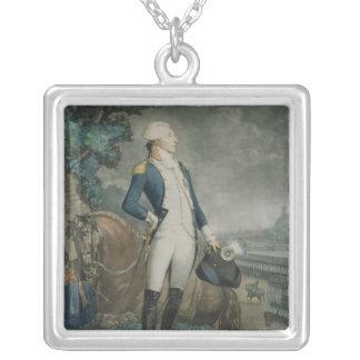 Retrato del marqués de La Fayette Collar Plateado