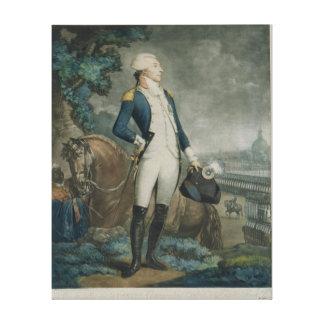 Retrato del marqués de La Fayette Lona Envuelta Para Galerías