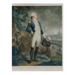 Retrato del marqués de La Fayette Postales