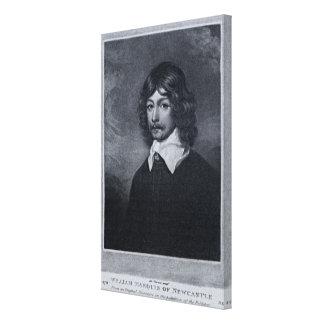 Retrato del marqués de Newcastle Impresiones En Lona Estiradas