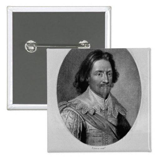 Retrato del marqués de Vieu Ville Pin Cuadrada 5 Cm
