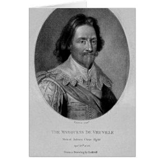 Retrato del marqués de Vieu Ville Tarjeta De Felicitación