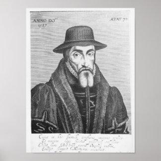 Retrato del martyrologist del inglés de John Foxe Póster