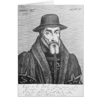 Retrato del martyrologist del inglés de John Foxe Felicitacion