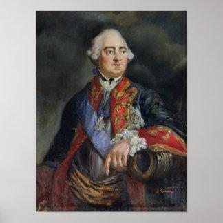 Retrato del matemático Leonhard Euler Póster