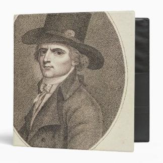 """Retrato del medallón de Francois Noel Carpeta 1 1/2"""""""