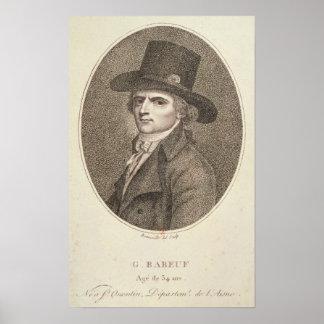 Retrato del medallón de Francois Noel Poster
