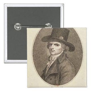 Retrato del medallón de Francois Noel Pin Cuadrado