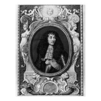 Retrato del medallón de Louis XIV Tarjetas Postales