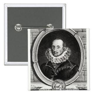 Retrato del medallón de Pedro de Bourdeille Pin Cuadrado