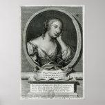 Retrato del medallón de señora de La Fayette Impresiones