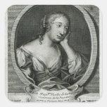 Retrato del medallón de señora de La Fayette Calcomanía Cuadradas Personalizadas