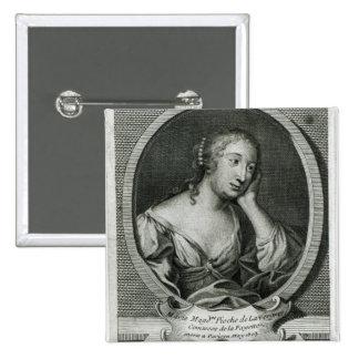 Retrato del medallón de señora de La Fayette Pin Cuadrado