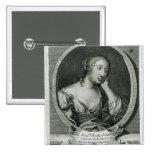 Retrato del medallón de señora de La Fayette Pins