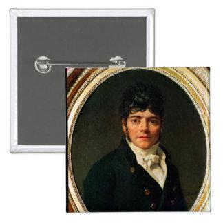 retrato del medallón del Comte Esteve, 1804 Pin Cuadrado