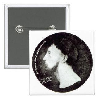 Retrato del medallón pin cuadrado