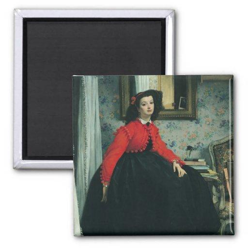 Retrato del Mlle. L.L. 1864 Iman De Frigorífico