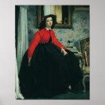 Retrato del Mlle. L.L. 1864 Poster