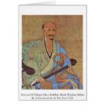 Retrato del monje budista Wuzhun de Chan del chino Tarjetas