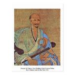 Retrato del monje budista Wuzhun de Chan del chino Tarjeta Postal