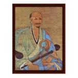 Retrato del monje budista Wuzhun de Chan del chino Postal