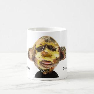 Retrato del mono taza básica blanca