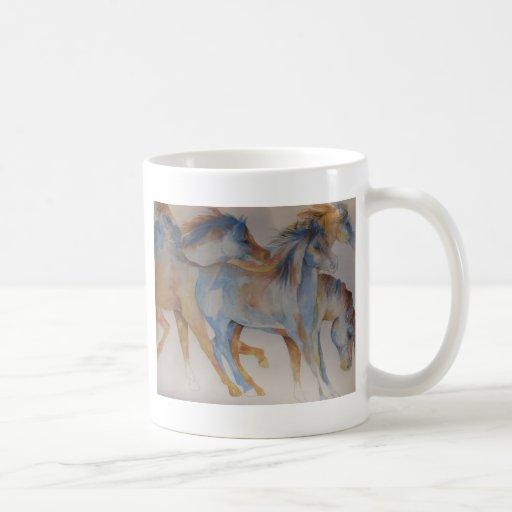 Retrato del mustango taza de café