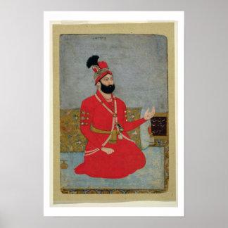 Retrato del nadir Shah Afshar de Persia (1688-1747 Póster