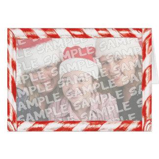 Retrato del navidad del marco de la foto del tarjeta de felicitación